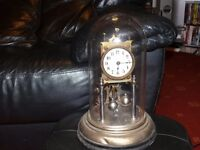 400 day German Anniversary clock with NON glass dome