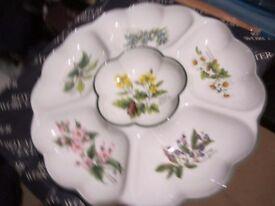 Royal Worcester Herb Crudite Dish 34 cms - never used
