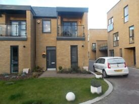 Newly built three bed two bath semi detached house with off street parking close to Church Langley.