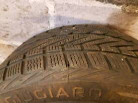 Pair of winter tyres size 275/45/19