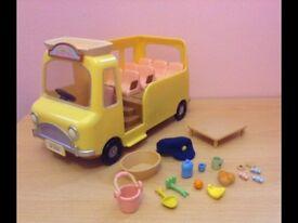 Sylvanian families school nursery bus.