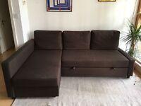 IKEA FRIHETEN CORNER SOFA BED - BROWN