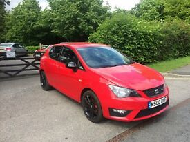 SEAT IBIZA FR RED BLACK EDITION 1.4 TSI 2014 64REG CAT D 5DR 15,000 MILES ONLY EXCELLENT CONDITION