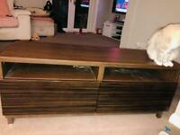 Tv unit brown high gloss and wood