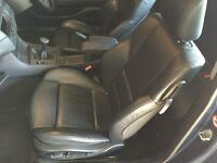Set of BMW 3 series compact black leather seats and door cards