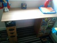 kids desk with draws and shelfs