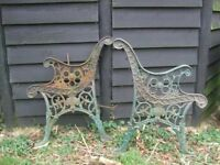 Decorative Heavy duty cast iron garden bench ends