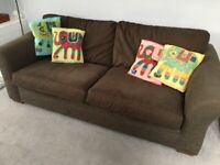 Sofa - Next - Brown - Used - Good Condition - Collection Stretford