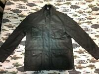 MENS TU BLACK ZIP/BUTTON UP PADDED CASUAL WINTER UTILITY COAT JACKET UK L LARGE