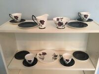 Vintage Royal Albert Masquerade Bone China 4 Piece Tea Set Dishwasher safe