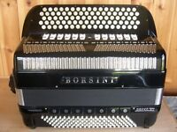 Borsini Orfeo VII Professional, 4 Voice, Double Octave Tuned, 5 Row C System, Chromatic Accordion.
