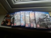 7 PS4 games inc battlefield 1 £10 ( fully working)