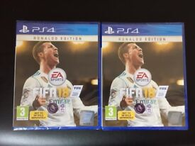 BRAND NEW AND SEALED PS4 GAME FIFA 18 - RONALDO EDITION