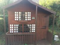 Large Kids Wooden Play House