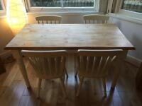 Pine Dining Table - 4 Chair - Shabby Chic