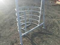 Kissing gate pedestrian right away farm stables tractor