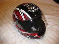 """Two HJC """"Lotus"""" Crash Helmets"""
