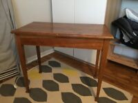 Solid, wooden table (no veneer), 91cm x 49cm x 76cm