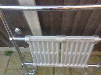 Chrome heated radiator towel rail