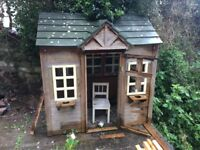 LARGE WOODEN WENDY HOUSE/KENNEL FREE TO COLLECTOR