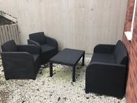 Four piece rattan effect furniture set