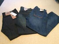 Brand new Next men's jeans size 36s loose fit x 3