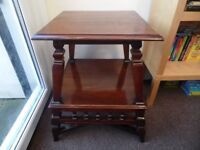 Rare Design Antique Victorian Mahogany Table 2 Tier Still Very Stable