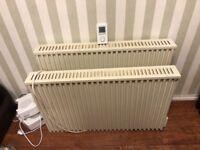 Pair of Fischer Future Heat modern storage heaters