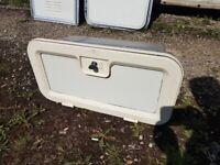 Caravan, camper, motorhome battery box with 1key.