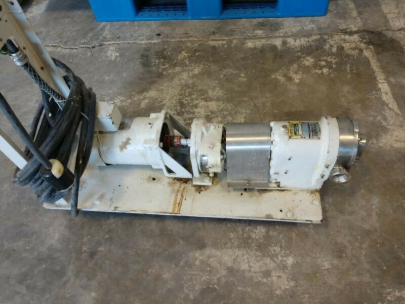 Waukesha Sanitary Pump Size 3 With Electric Motor Portable On Cart  230 Volt