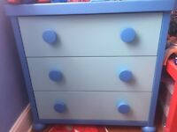 Mammut Furniture series - Blue , Wardrobe, Drawers, Shelving Unit , Side Table