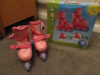 Girls Adjustable Skates (Age 4-6 Years / Sizes 9-12)