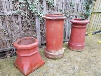 Decorative chimney pots and garden planters