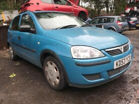 Vauxhall Corsa 1.2 Petrol 2003 5dr Blue Breaking for spares