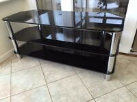 """Large TV Stand up to 50"""" - Black and Chrome - VGC"""