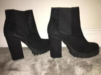 River Island block heel boots for sale.