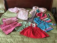 11 piece clothing bundle for 3 month old girl - including coat, hoody and dresses