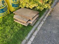 3' x 2' concrete slabs