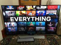 Samsung UE55HU8500 55 inch Curved 4K Ultra HD 3D LED Smart TV Freeview HD freesat HD Flagship Model