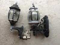 2 outdoor Victorian style wall lights FREE.