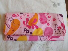 Unused floral, No7 make up bag