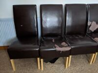 Dining chairs (used)
