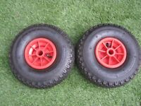 "Spare Wheel - 10"" with Pnuematic Tyre 260 x 85 Ideal for wheelbarrows , go-karts , trolleys etc"