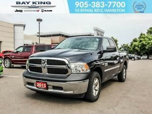 2015 Ram 1500 SXT QUAD CAB 4X4, BLUETOOTH, 17 ALUMINUM WHEELS
