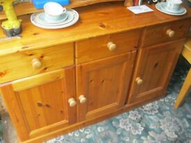 MODERN SOLID PINE STURDY SIDEBOARD / DRESSER BASE. VIEWING / DELIVERY AVAILABLE