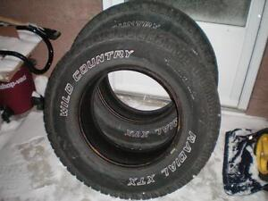 2 Wild Country Radial XTX Sport Winter Tires * LT265 70R17 121/118R * $80.00 for 2 .   Winter Tires ( used tires )