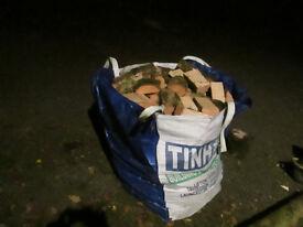 Split Bulk Bag Of Ash Hardwood