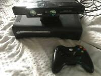 Xbox 360 120GB with Kinect camera black