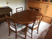 McIntosh extendable dining table with chairs