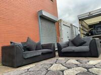 Grey & Black sofas 3&2 delivery 🚚 suite couch furniture